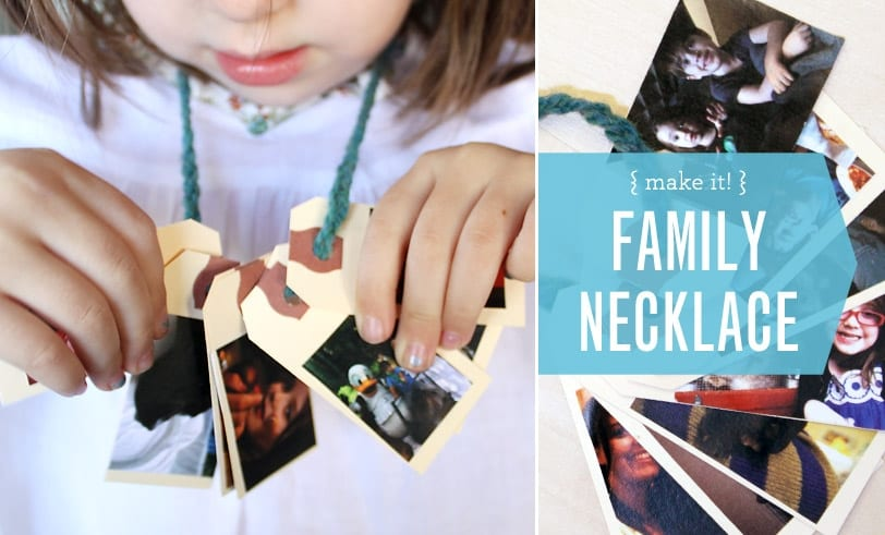 The Family Necklace Project Featured Image Girl Wearing Crafted Necklace