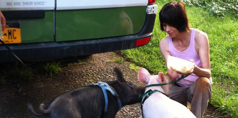 Anna and Maybelle rescued by local good-samaritan