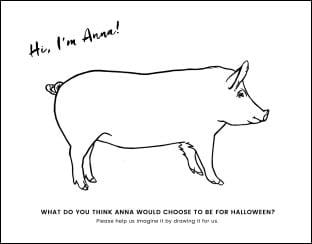 Pig Coloring Sheet Thumbnail