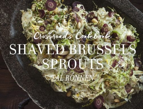 Shaved Brussels Sprouts with Za'atar, Lemon, and Pine Nuts