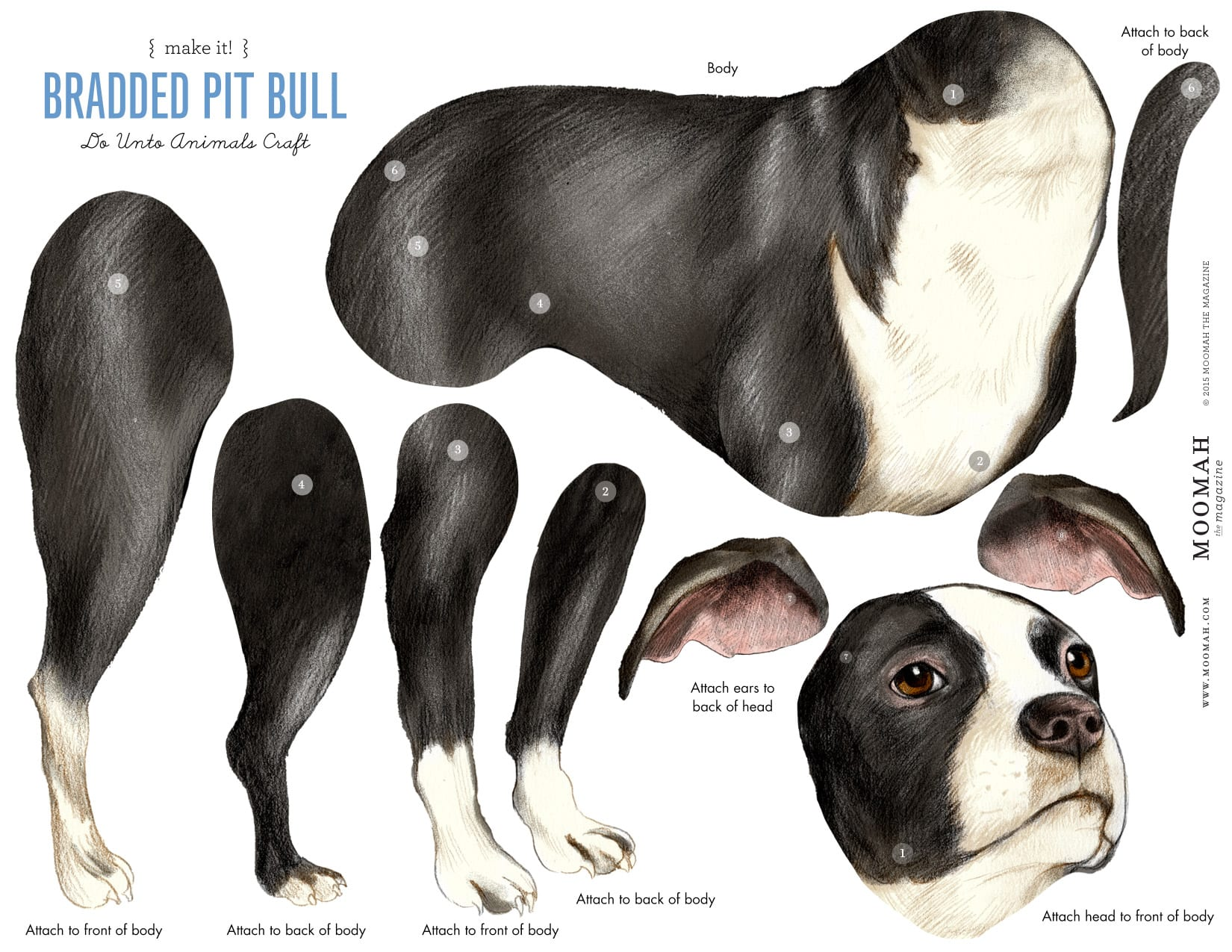 Hockhockson Bradded Dog Craft Template Downloadable