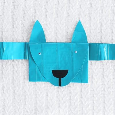 Finished Dog Shaped Treat Pouch from the Front