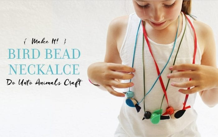 Beaded Bird Necklace Craft Featured Image