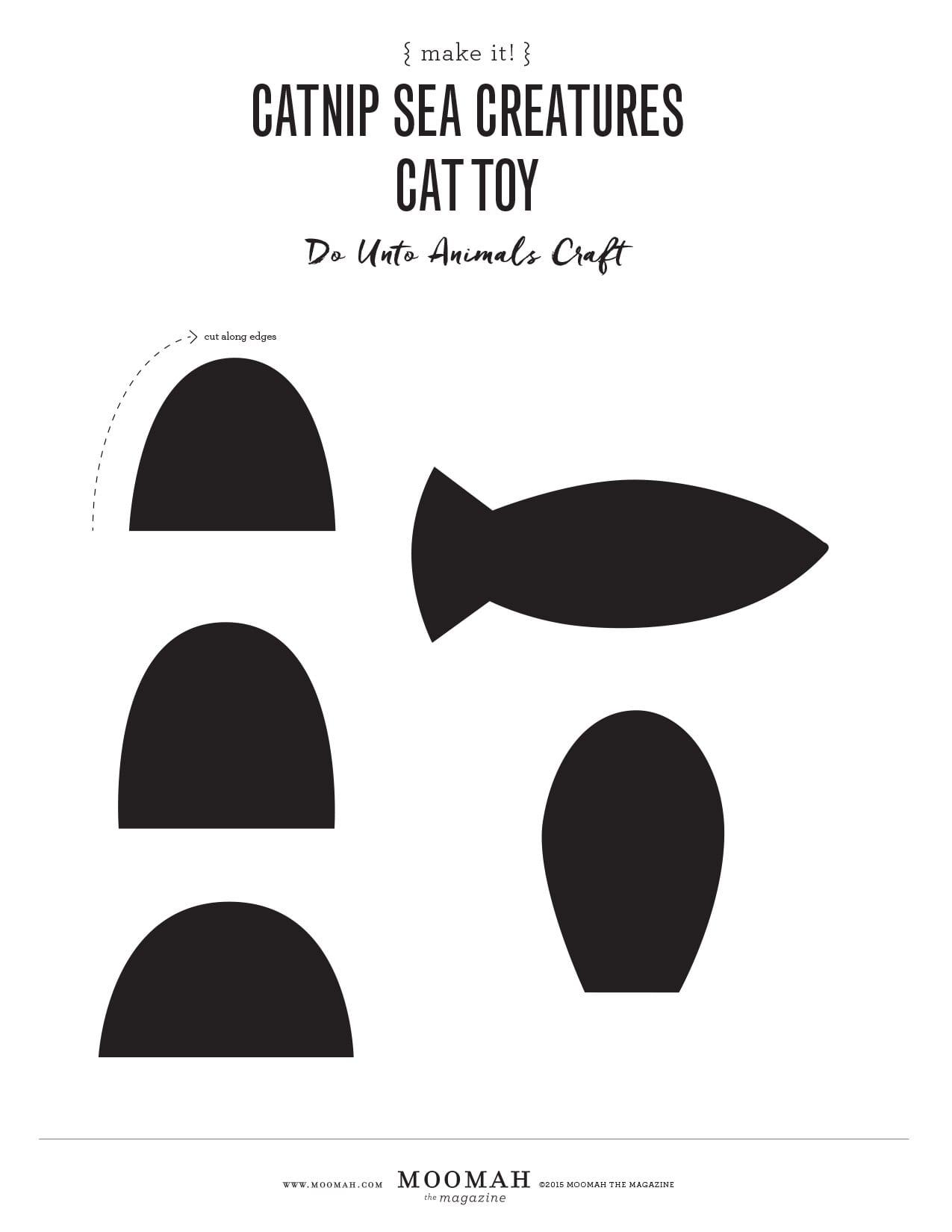 Catnip Sea Creatures Cat Toy Template