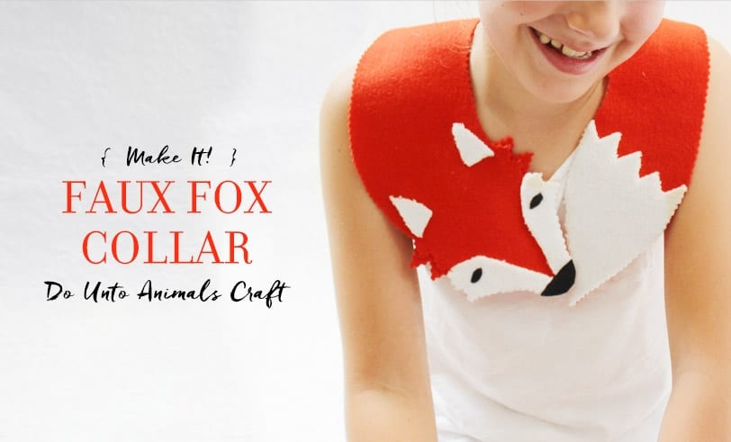 Hockhockson Craft: Faux Fox Collar Featured Image