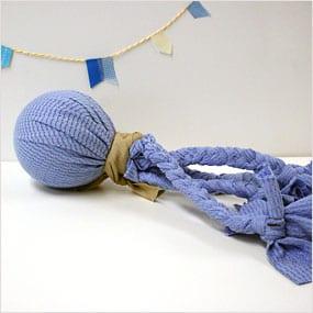 Handmade tug toy for dog