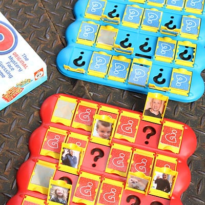 Guess Who® Game with our own family photos
