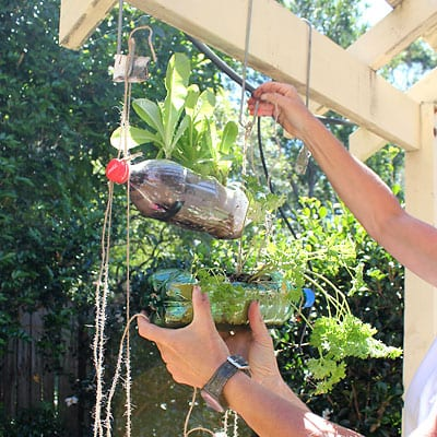 Hanging a second bottle planter