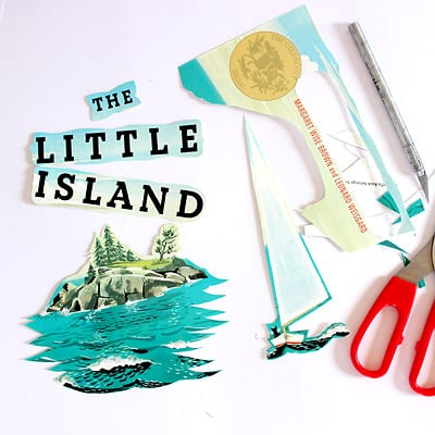 Feature images and the title trimmed from the cover of The Little Island book.